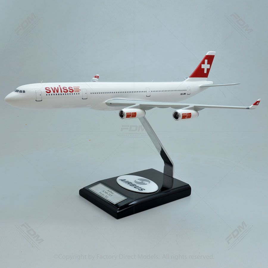 Airbus A340-300 SWISS Airlines Model