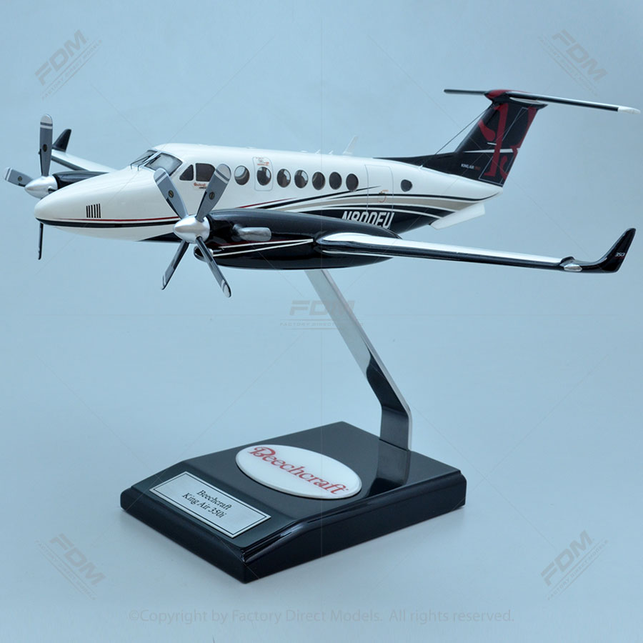 Beechcraft 350i King Air Model With Detailed Interior