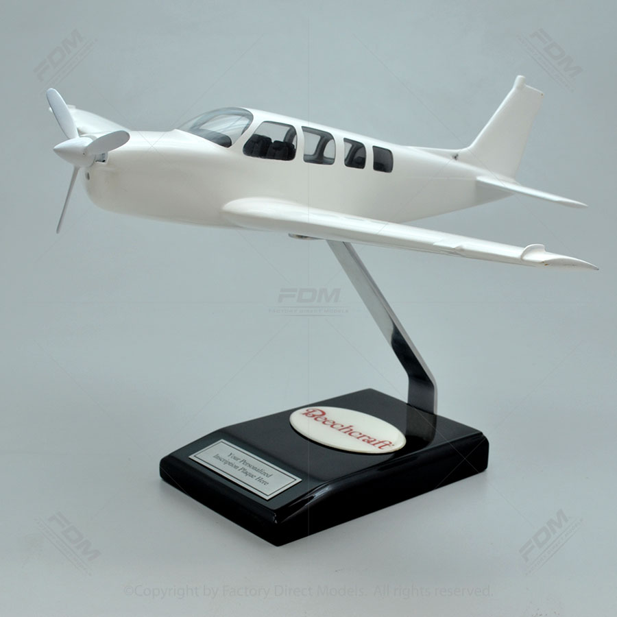 Your Custom Painted Beechcraft G36 Bonanza Model with Detailed Interior