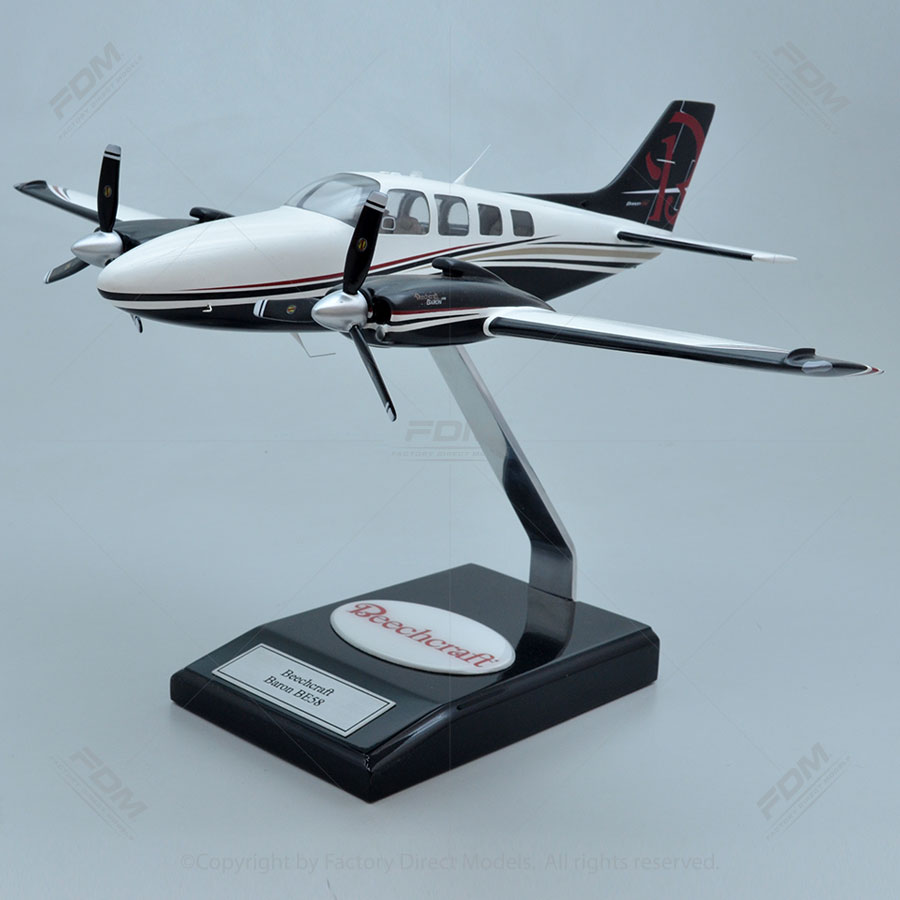 Beechcraft G58 Baron Model with Detailed Interior