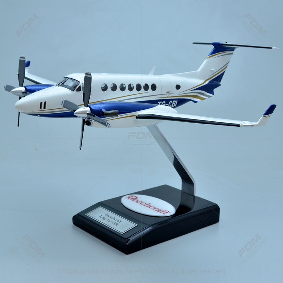 Beechcraft King Air 350i Model with Detailed Interior