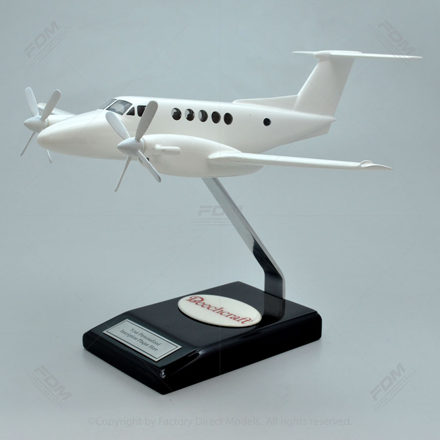 Your Custom Painted Beechcraft King Air B200 Model with Detailed Interior