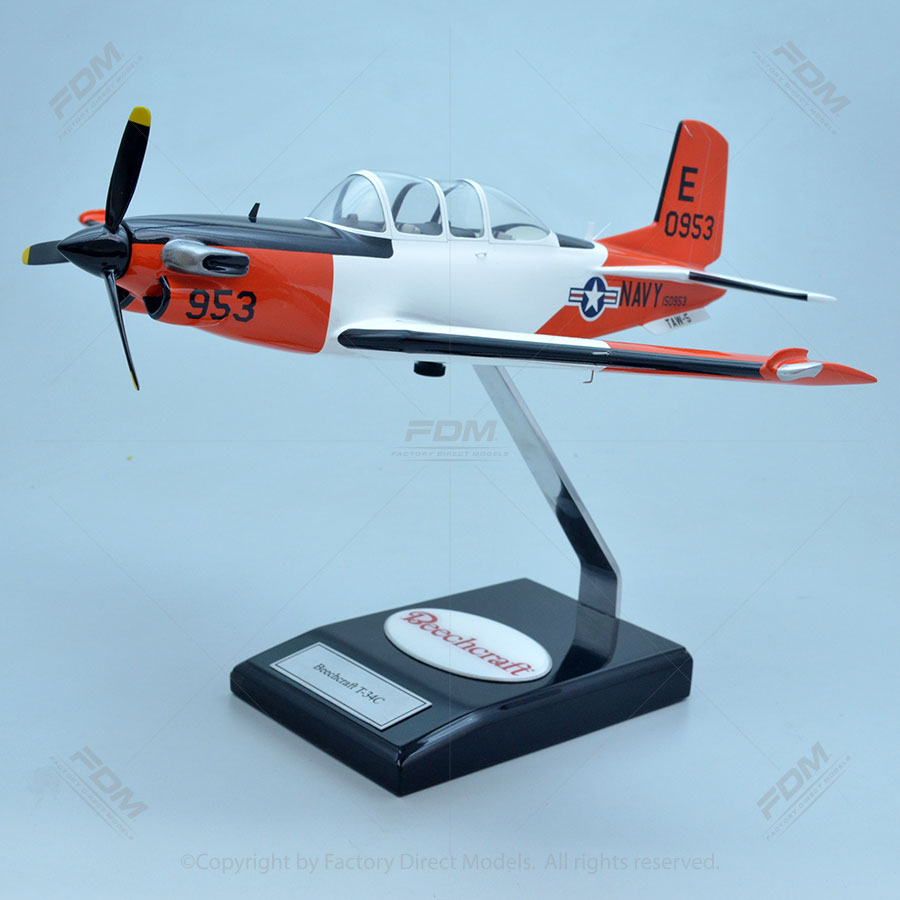 Beechcraft T-34C Mentor Model with Detailed Interior