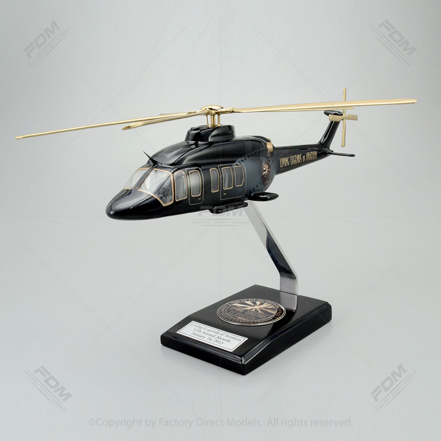 Bell 525 Relentless Living Legend of Aviation Paint Scheme Model with Detailed Interior