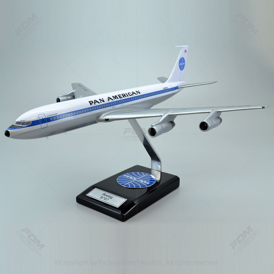 """Boeing 707-300 Pan Am """"Clipper Challenger"""" Model Airplane"""
