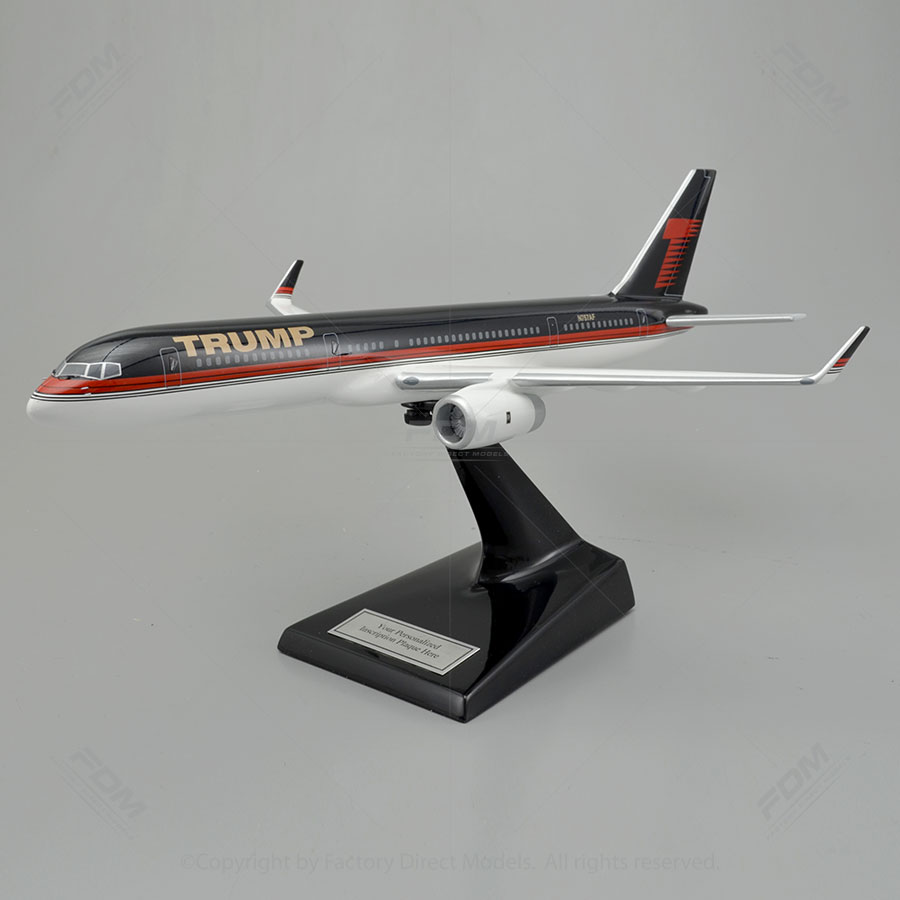 Boeing 757-200 Donald Trump Scale Model Airplane