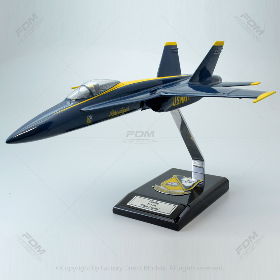 McDonnell Douglas F-18A Blue Angels Model with Detailed Interior