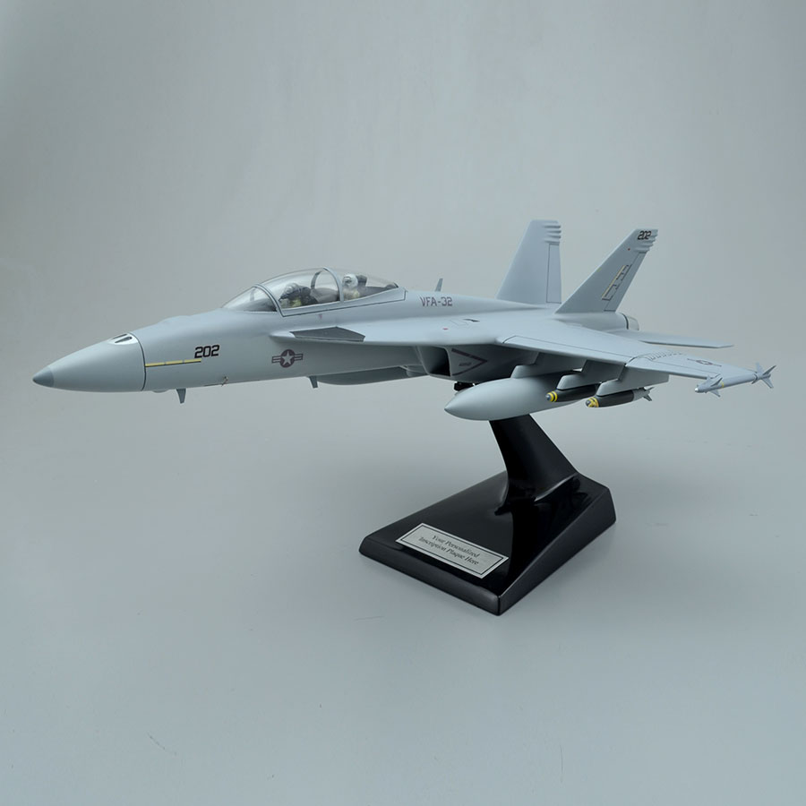 Boeing F/A-18F Super Hornet Scale Model Aircraft with Interior Details