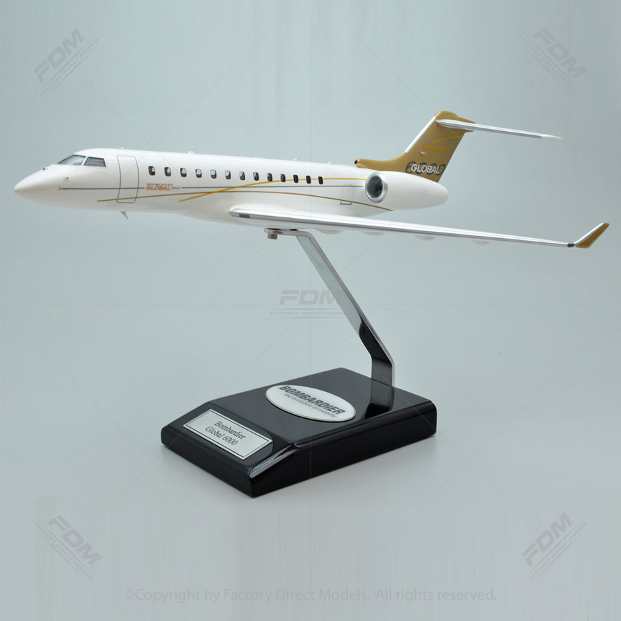Bombardier Global 6000 Model with Detailed Interior