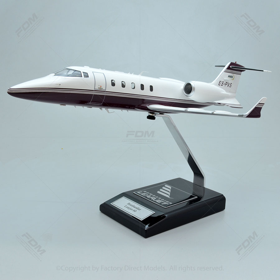 Bombardier Learjet 60 Model with Detailed Interior