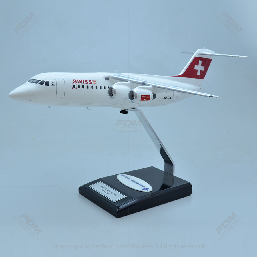 British Aerospace 146-100 Swiss Airlines Model with Detailed Interior