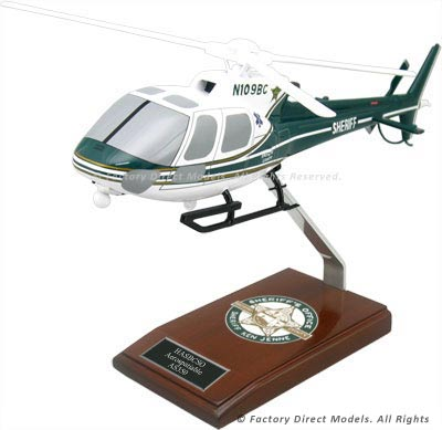 Aérospatiale AS350 Wooden Helicopter Model