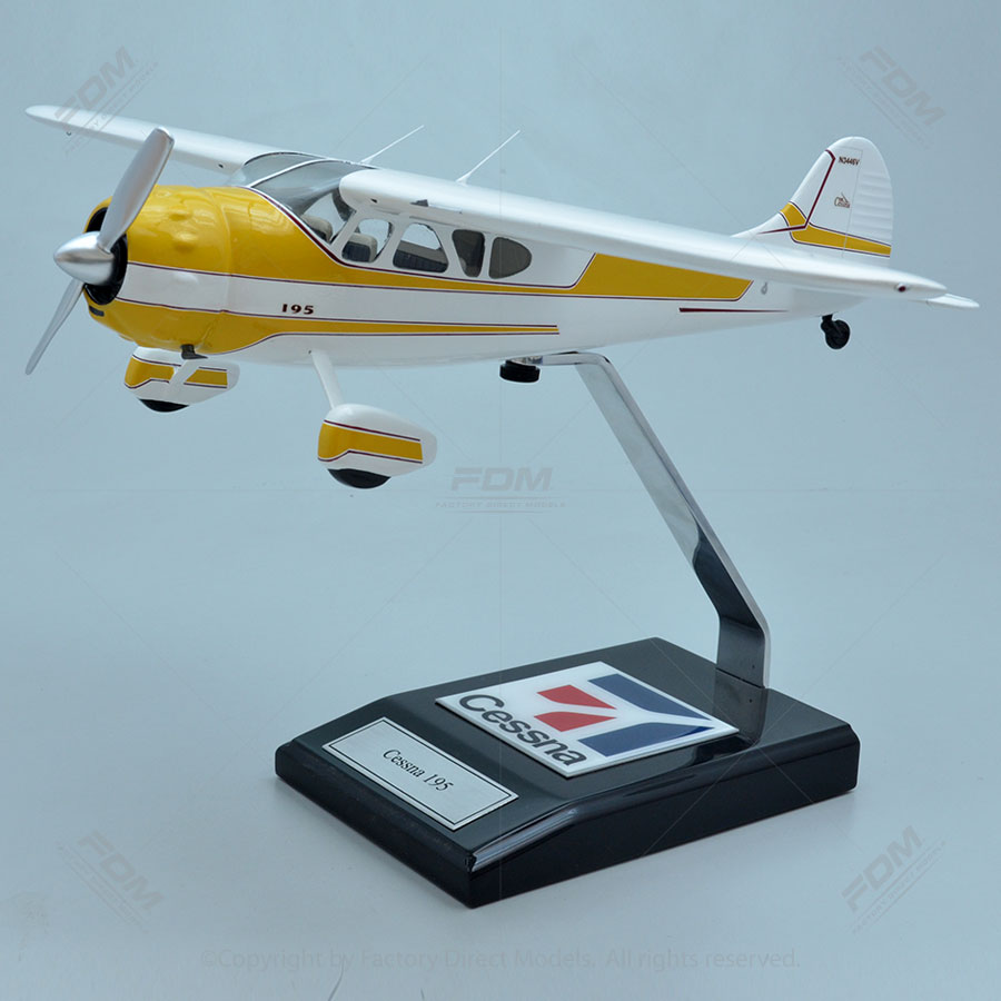 Cessna 195 Businessliner Model with Detailed Interior