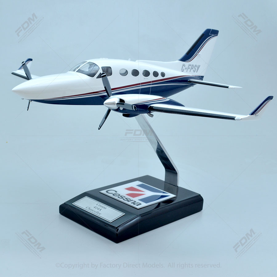 Cessna 414A Model with Detailed Interior
