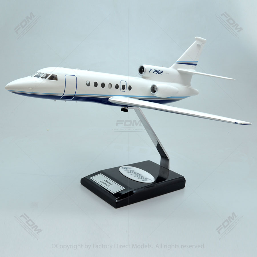 Dassault Falcon 50 Model with Detailed Interior