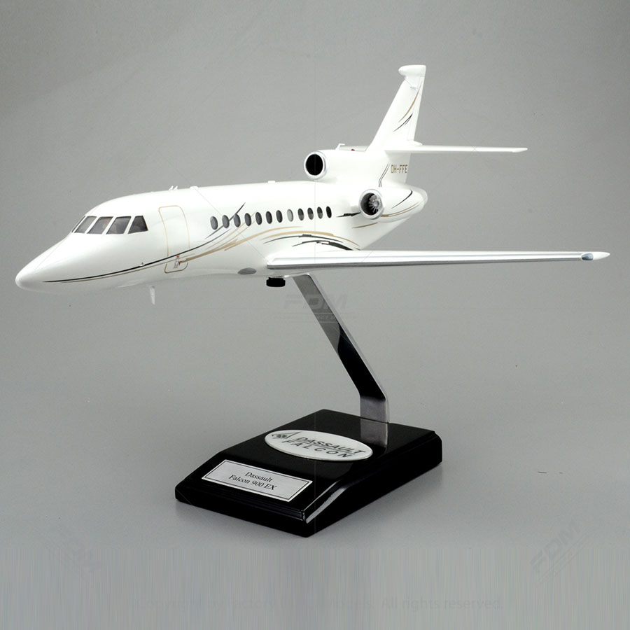 Dassault Falcon 900 EX Model with Detailed Interior