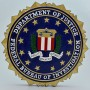 Department of Justice Federal Bureau of Investigation Wooden Wall Plaque