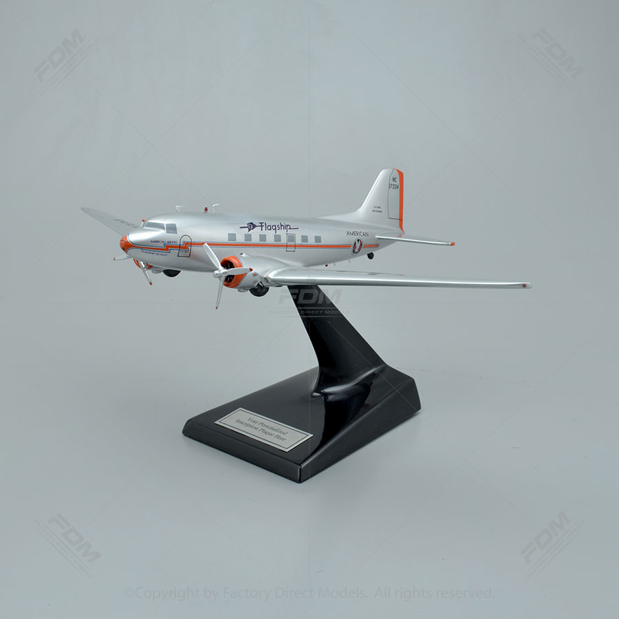 Douglas DC-3 American Airlines Flagship Detroit Scale Model Airplane