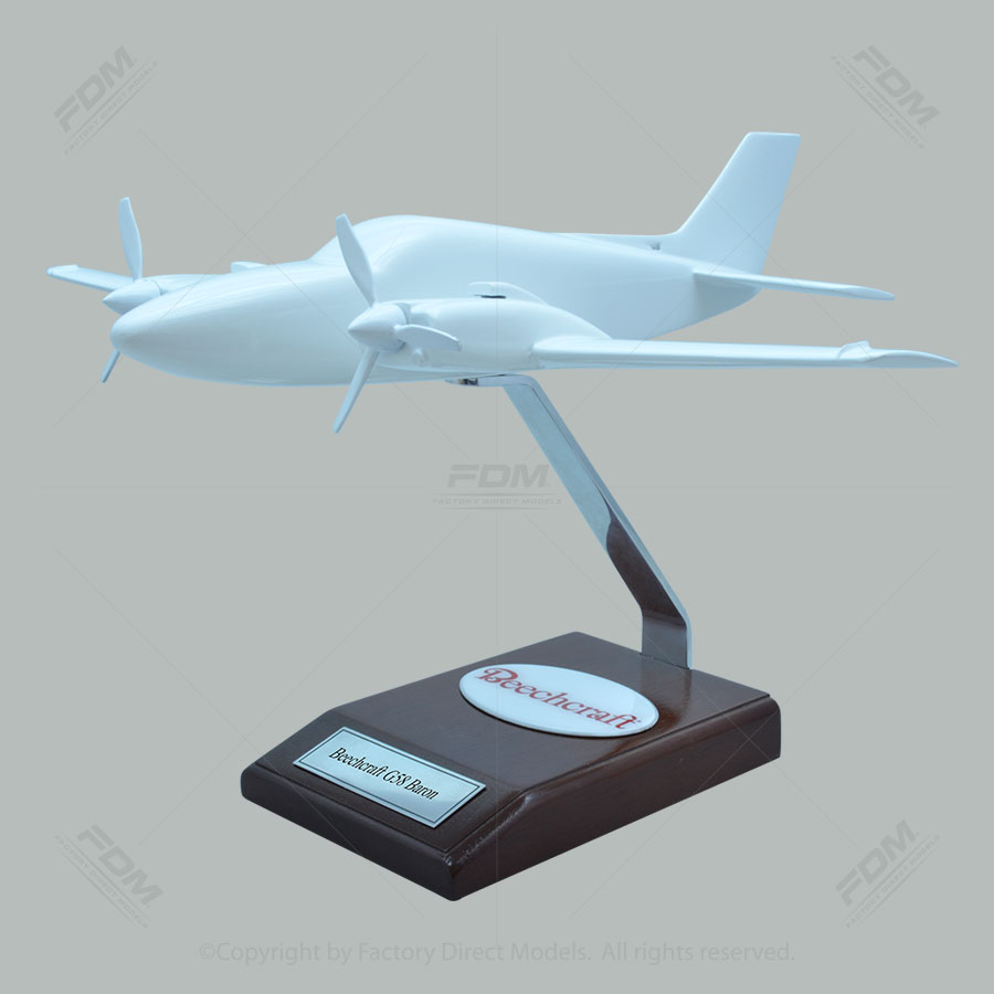 Your Custom Painted Beechcraft G58 Baron Scale Model
