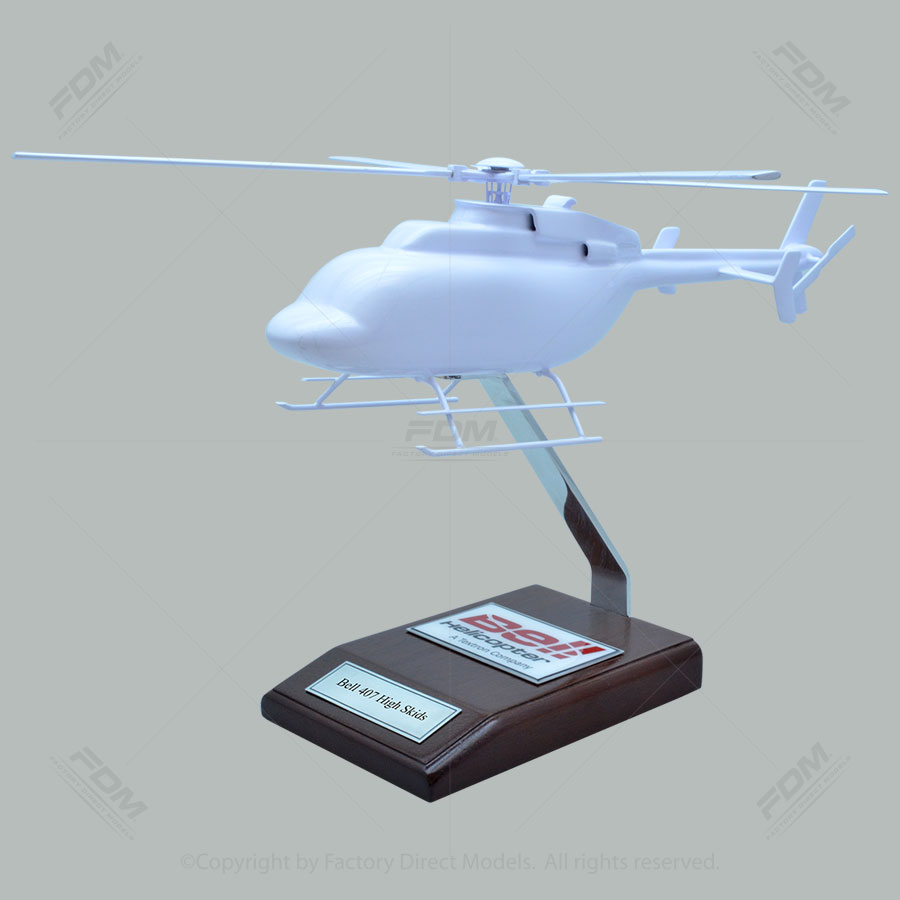 Your Custom Painted Bell 407 High Skids Helicopter Model