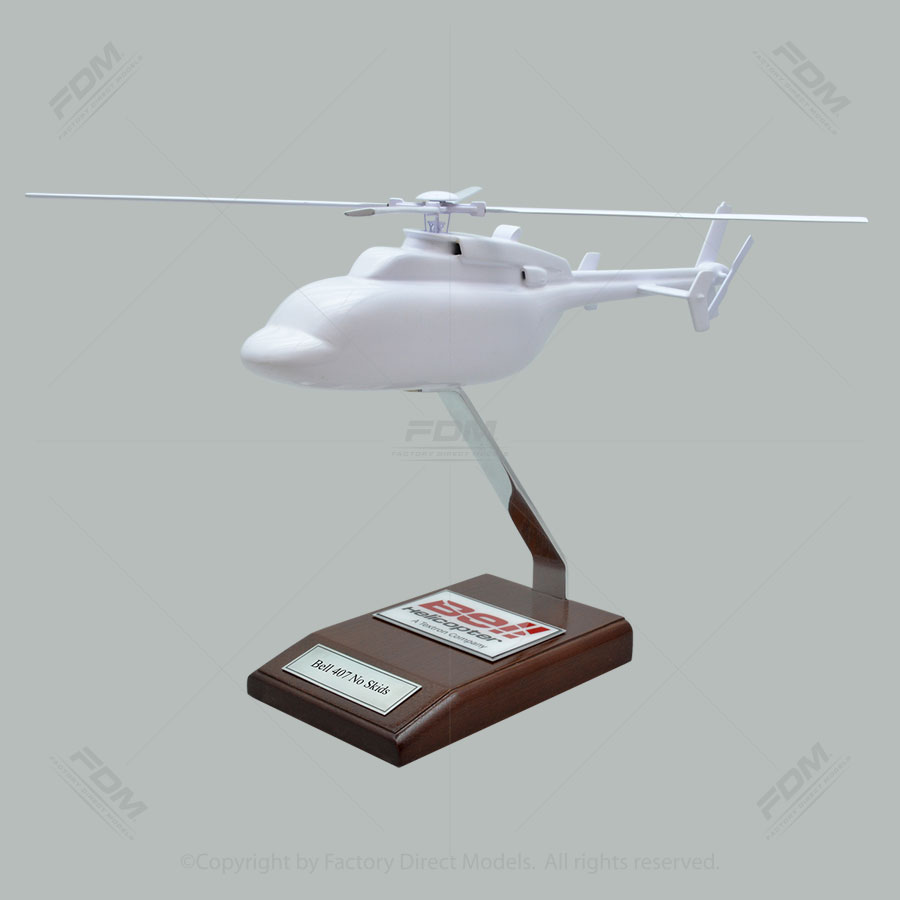 Your Custom Painted Bell 407 No Skids Model Helicopter
