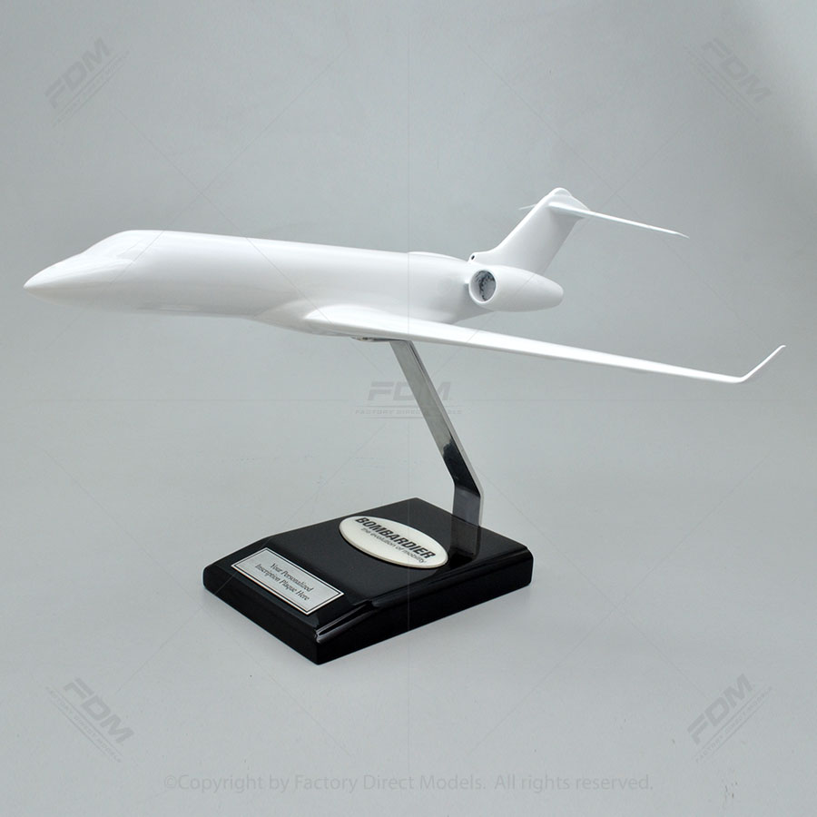 Your Custom Painted Bombardier Global 6000 Scale Model Airplane