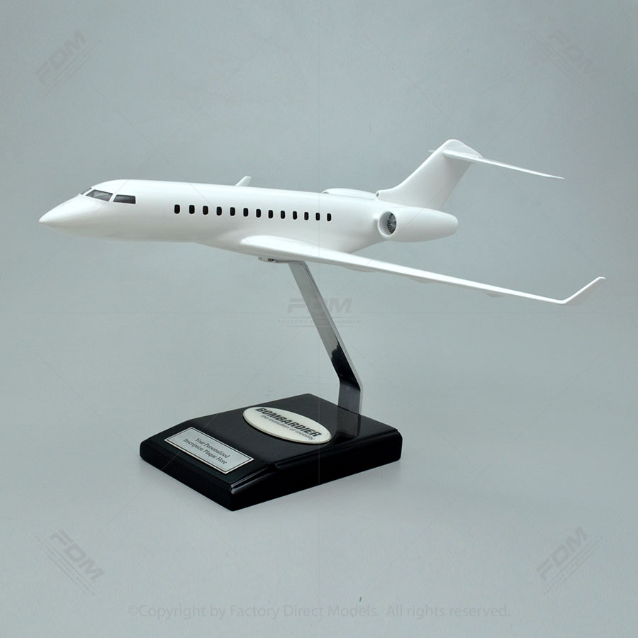 Your Custom Painted Bombardier Global 6000 Scale Model Airplane with Detailed Interior