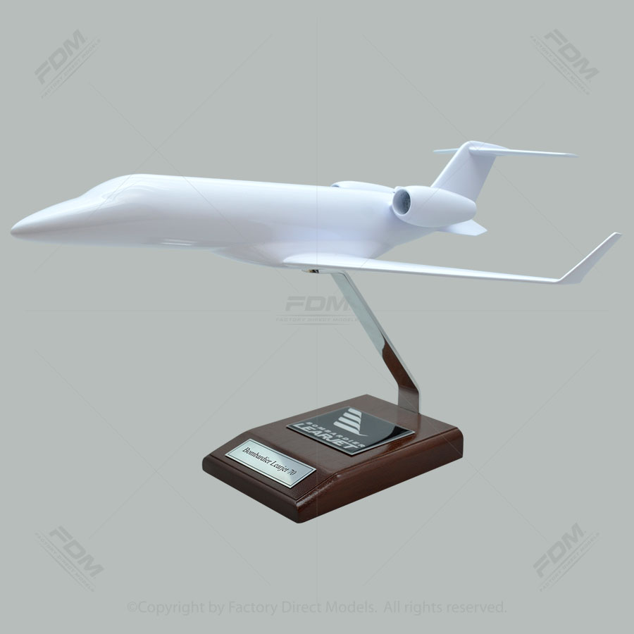 Your Custom Painted Bombardier Learjet 70 Scale Model