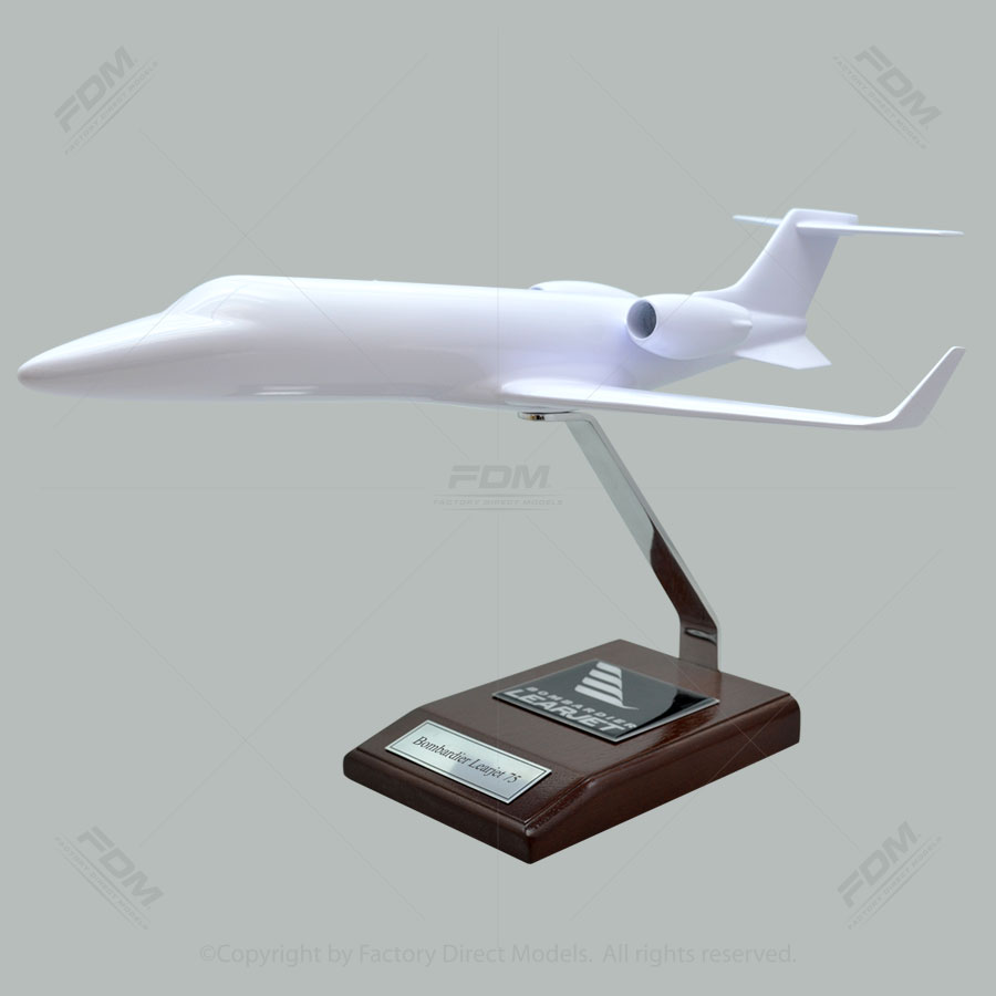 Your Custom Painted Bombardier Learjet 75 Scale Model Airplane