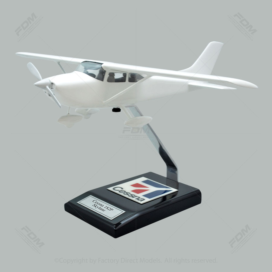 Your Custom Painted Cessna 182P Skylane Scale Model Airplane with Detailed Interior