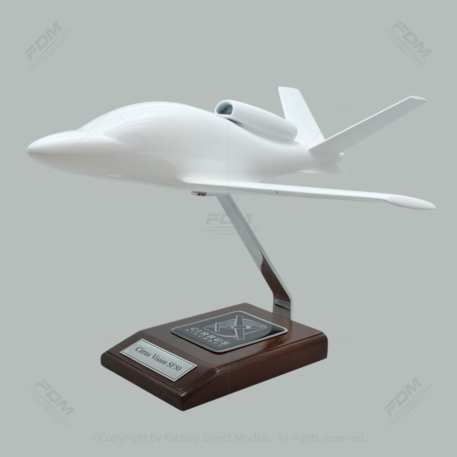 Your Custom Painted Cirrus Vision SF50 Scale Model Airplane