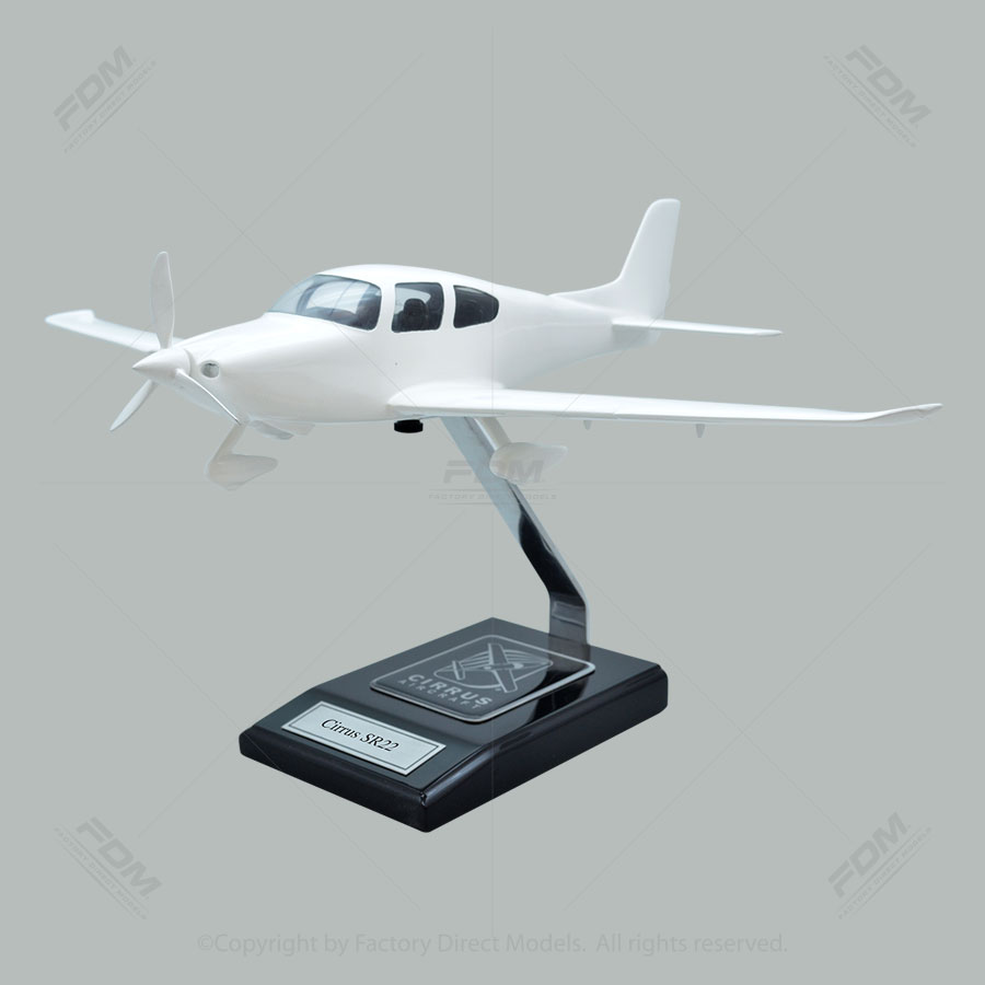 Your Custom Painted Cirrus SR22 Scale Model with Detailed Interior