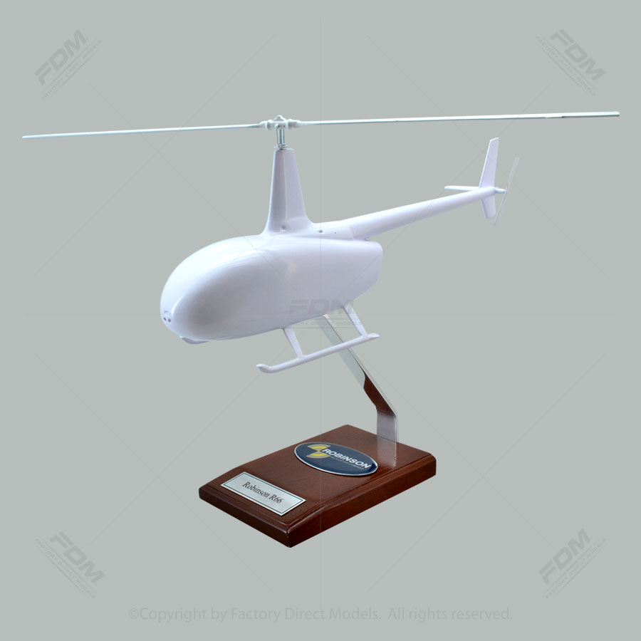 Your Custom Painted Robinson R66 Scale Model Helicopter