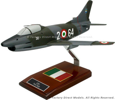 "Fiat G.91 ""Gina"" Airplane Model"