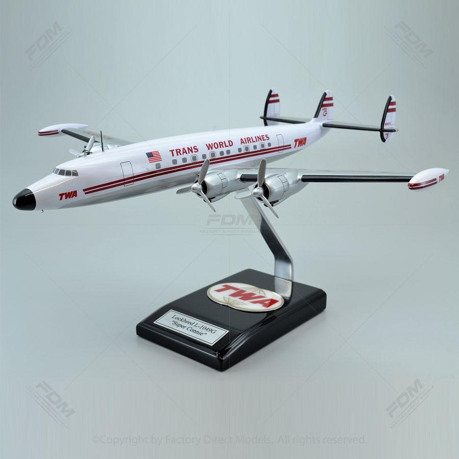 "Lockheed L-1049G, ""Super G"", TWA Model Airplane"