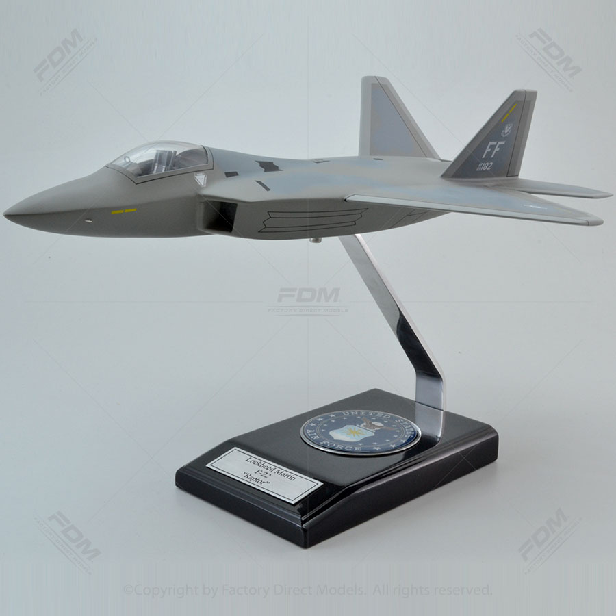 Lockheed Martin F-22 Raptor Model with Detailed Interior
