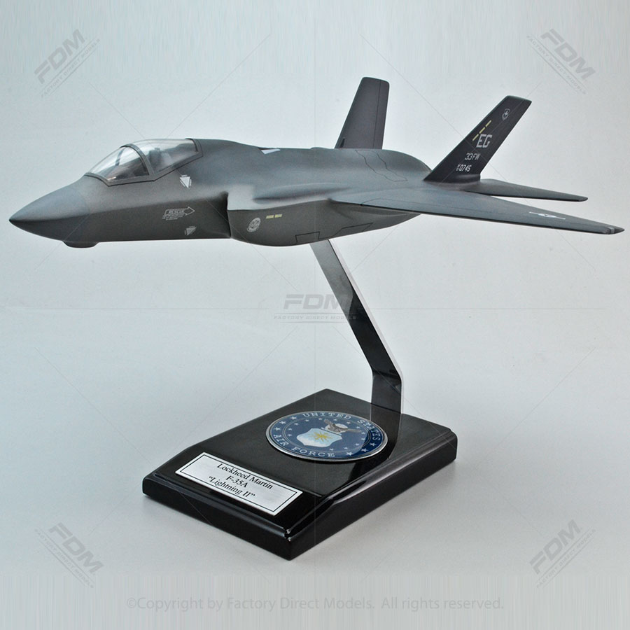 Lockheed Martin F-35A Lightning II Model with Detailed Interior