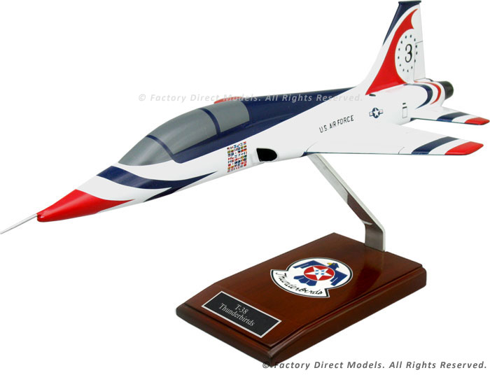 "Northrop T-38 ""Talon"" Model Airplane with Thunderbirds Paint Scheme"