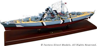 KMS Bismarck Model Ship