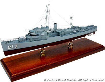 USS Coolbaugh (DE-217) Model Ship