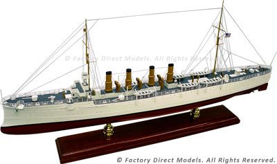 USS Chester (CL-1) Model Ship