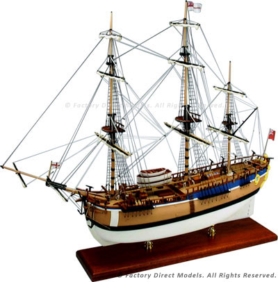 HM Bark Endeavour Tall Ship Model