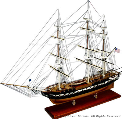 USS Constitution Tall Model Ship