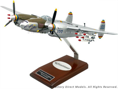 "Lockheed P-38 Lightning ""Putt Putt Maru"" Scale Model"