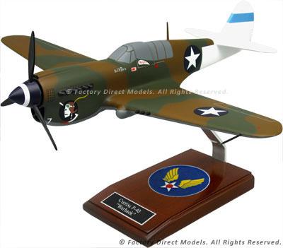 Curtiss P-40 Warhawk Shark Camou Model