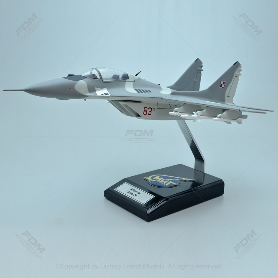 Mikoyan MiG-29 Fulcrum Model with Detailed Interior