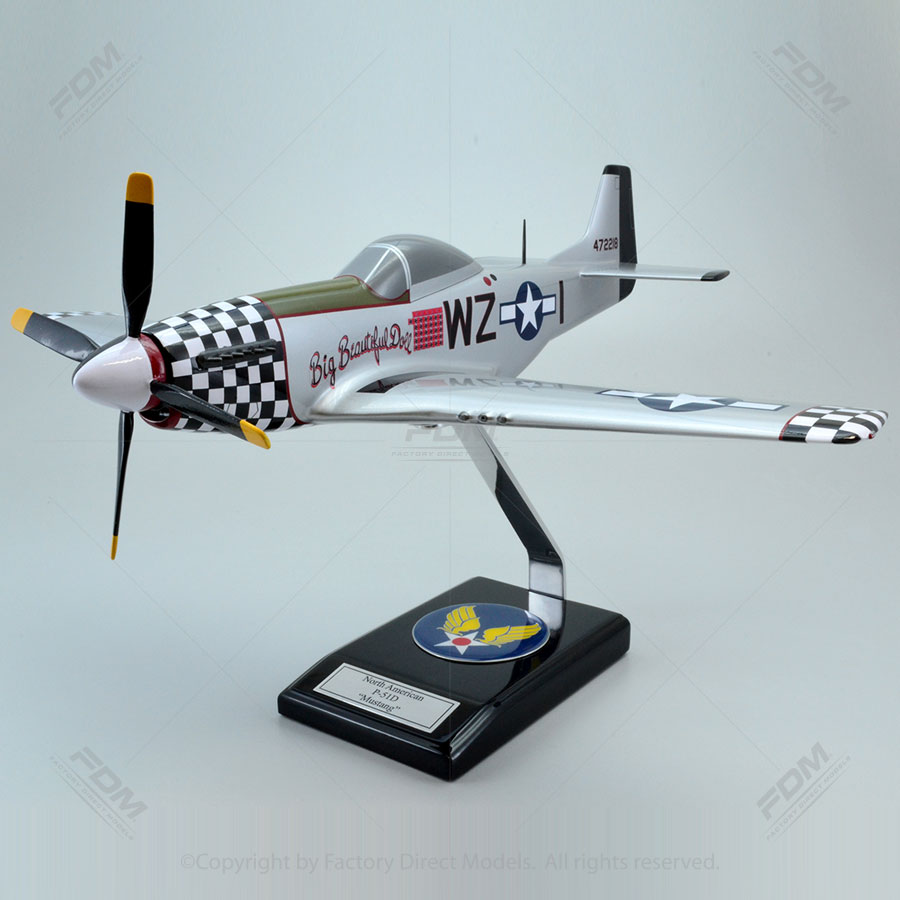 North American P-51D Big Beautiful Doll Model
