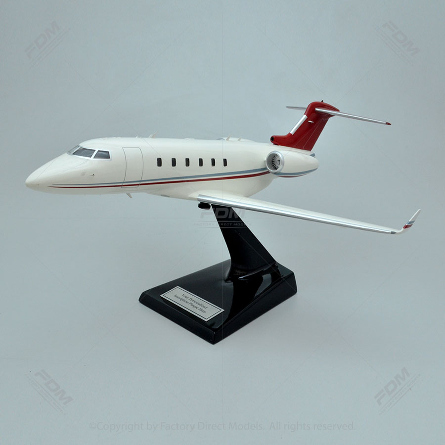 Bombardier Challenger 300 Model with Detailed Interior