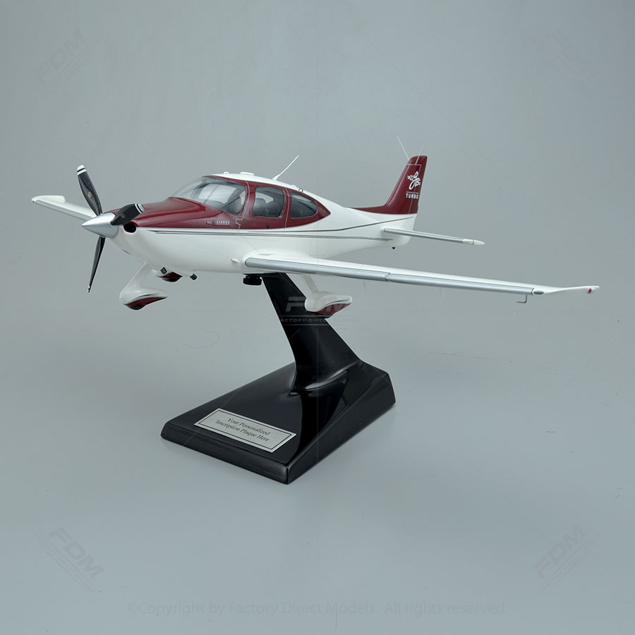 Cirrus SR22T Model with Detailed Interior
