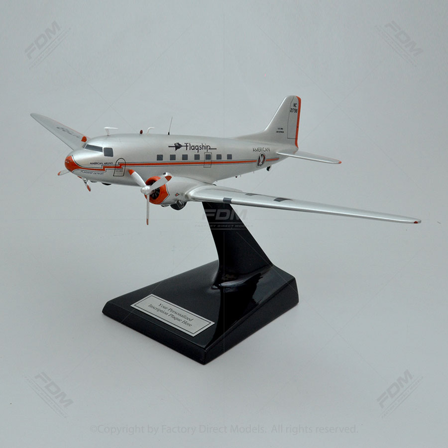 Douglas DC-3 American Airlines Model Airplane